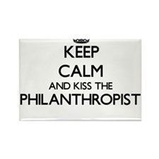 Keep calm and kiss the Philanthropist Magnets