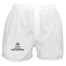 Keep calm and kiss the Philosopher Boxer Shorts