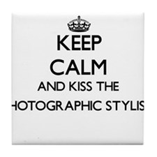 Keep calm and kiss the Photographic S Tile Coaster
