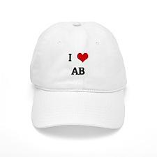 I Love AB Baseball Cap
