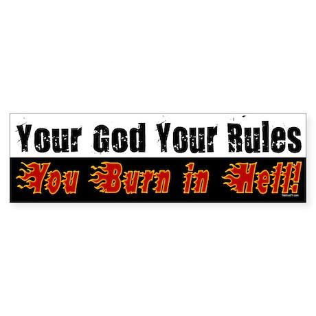 Your God Bumper Sticker