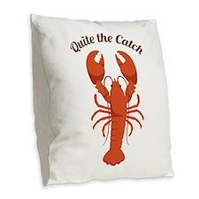 Quite the Catch Burlap Throw Pillow