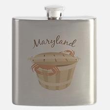 Maryland Crab ! Flask