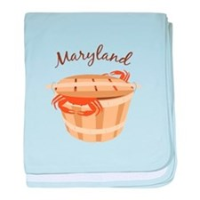 Maryland Crab ! baby blanket