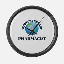 World's Funniest Pharmacist Large Wall Clock