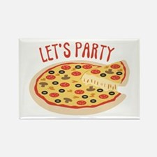 Lets Party Pizza Magnets