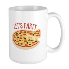 Lets Party Pizza Mugs