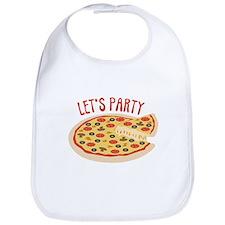Lets Party Pizza Bib