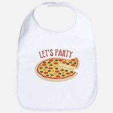 Lets Party Pizza Bib