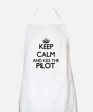 Keep calm and kiss the Pilot Apron