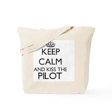 Keep calm and kiss the Pilot Tote Bag