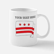 Custom Washington DC Flag Mugs