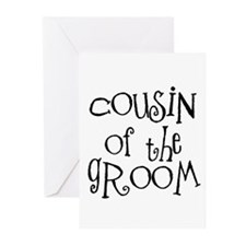 Cousin of the Groom Greeting Cards (Pk of 10)