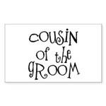 Cousin of the Groom Rectangle Sticker