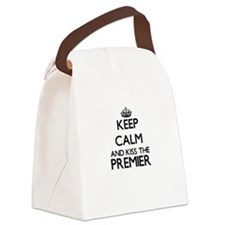 Keep calm and kiss the Premier Canvas Lunch Bag
