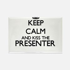 Keep calm and kiss the Presenter Magnets