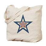 USA Striped Stars Fourth of July Tote Bag