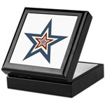 USA Striped Stars Fourth of July Keepsake Box