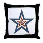 USA Striped Stars Fourth of July Throw Pillow