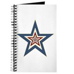 USA Striped Stars Fourth of July Journal