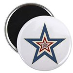 "USA Striped Stars Fourth of July 2.25"" Magnet (100"