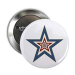 "USA Striped Stars Fourth of July 2.25"" Button (100"