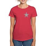 USA Striped Stars Fourth of July Women's Dark T-Sh