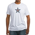 USA Striped Stars Fourth of July Fitted T-Shirt