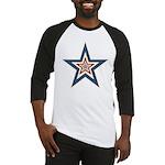 USA Striped Stars Fourth of July Baseball Jersey