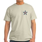 USA Striped Stars Fourth of July Light T-Shirt