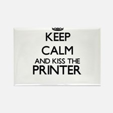Keep calm and kiss the Printer Magnets