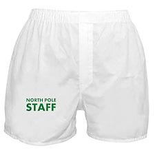 North Pole Staff: Green Boxer Shorts