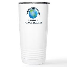 World's Funniest Primar Travel Coffee Mug