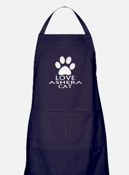 Love Ashera Cat Designs Apron (dark)