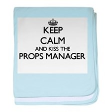 Keep calm and kiss the Props Manager baby blanket