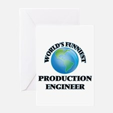 World's Funniest Production Enginee Greeting Cards