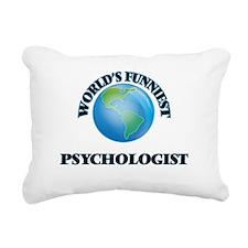 World's Funniest Psychol Rectangular Canvas Pillow