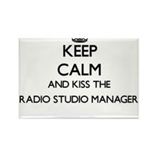 Keep calm and kiss the Radio Studio Manage Magnets