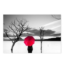 Red umbrella Postcards (Package of 8)