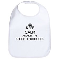 Keep calm and kiss the Record Producer Bib