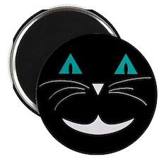 Black Cat Cheshire Magnets