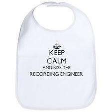 Keep calm and kiss the Recording Engineer Bib