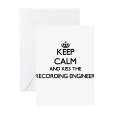 Keep calm and kiss the Recording En Greeting Cards