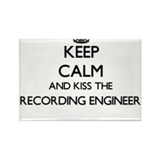 Keep calm and kiss the Recording Engineer Magnets
