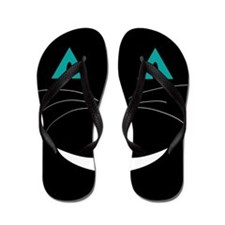Black Cat Cheshire Flip Flops