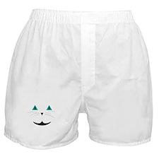 White Cat Smile Boxer Shorts