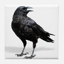 Black Crow Tile Coaster