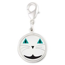 White Cat Smile Charms