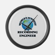 World's Funniest Recording Engine Large Wall Clock