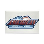 American Born and Bred Rectangle Magnet (100 pack)